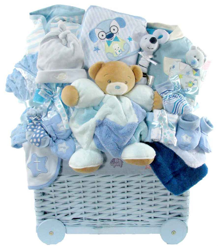 Baby Gift Packages : Baby s st welcome wagon glitter gift baskets