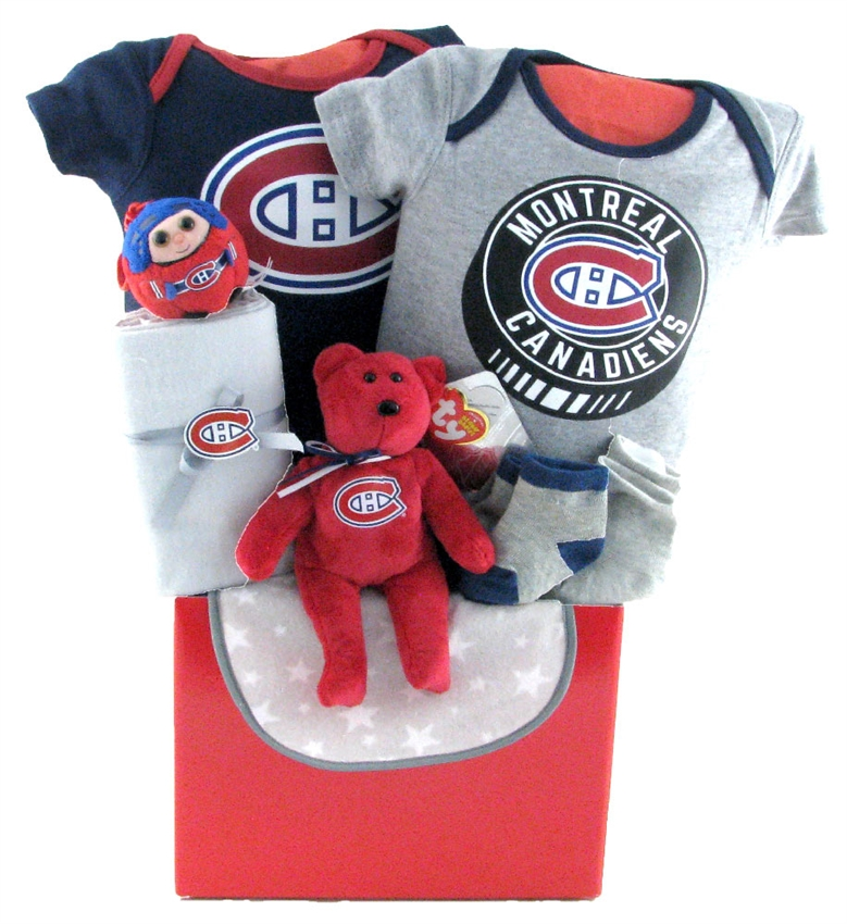 Baby Gift Baskets Montreal : Montreal canadiens basket glitter gift baskets