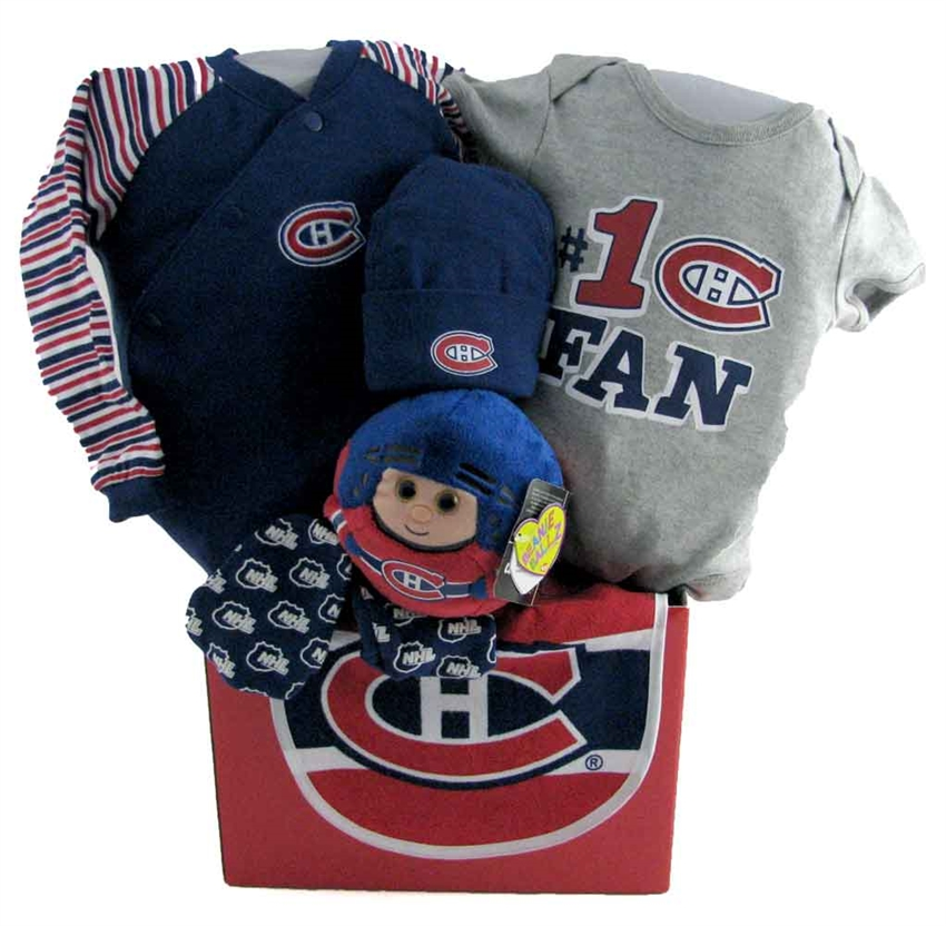 Baby Gift Baskets Montreal : Montreal canadiens basket with teddy bear glitter gift